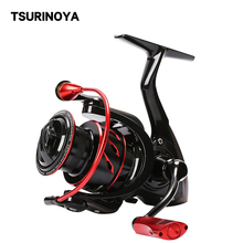TSURINOYA Whirlwing 800 1000 2000 3000 4000 5000 Spinning Reel 5.2:1 8+1BB Carp Fishing Reel for Saltwater Carretilhas De Pesca tsurinoya flying shark 6 2 1 high speed fishing reel 4000 5000 spinning reel 11 1bb 12kg drag aluminum spool carp fishing tackle