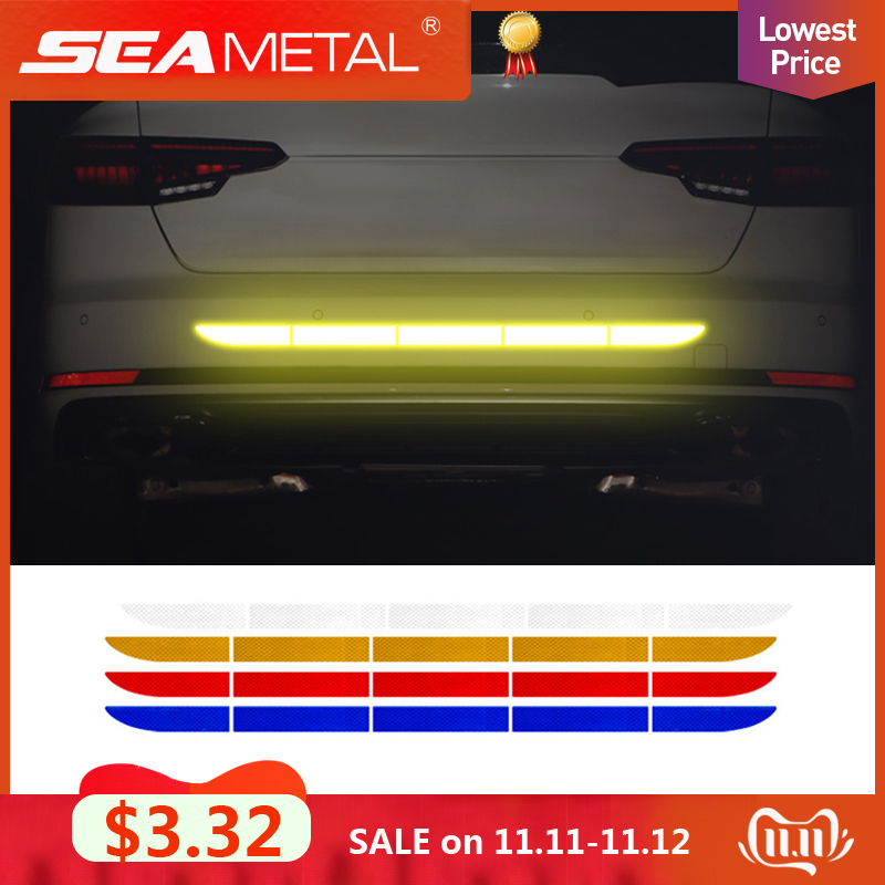 Car Reflective Tape Stickers Exterior Warning Strip Reflect Tape Traceless Protective Car Sticker Trunk Body Auto Accessories-in Car Stickers from Automobiles & Motorcycles
