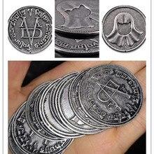 Coin Valar Morghulis High Valyrian Cosplay Metal Coin Faceless Man Iron Coins Prop