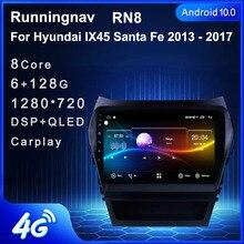 Android 10.1 için HYUNDAI IX45 santa fe 2013   2017 multimedya Stereo araç DVD oynatıcı oynatıcı navigasyon GPS radyo
