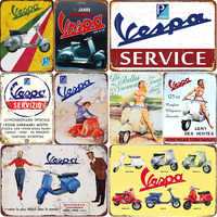 VESPA LEN'1 DES VENTES carteles de hojalata vintage Retro hojalata decoración de pared para Bar tamaño: 20*30cm