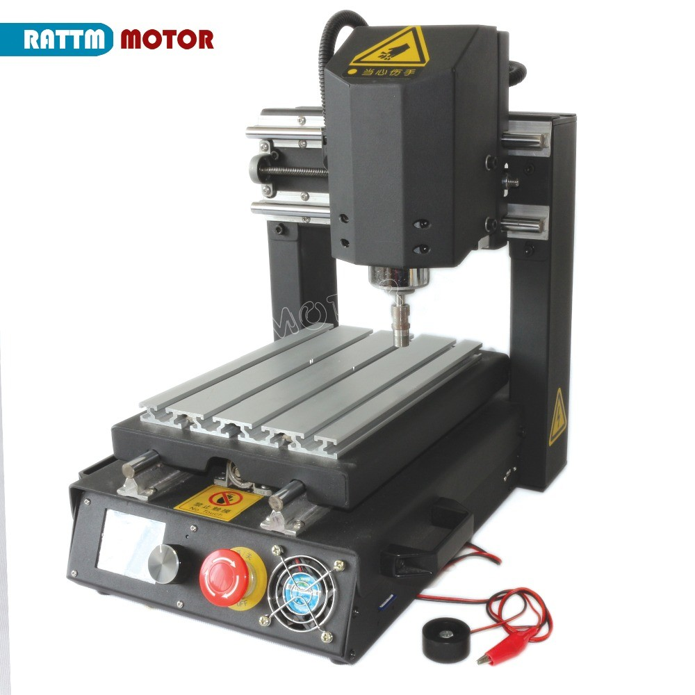 Desktop Offline 3 Axis 2030 CNC Router Engraving Milling Machine With Emergency Stop High-strength Steel + 400W DC Spindle Motor