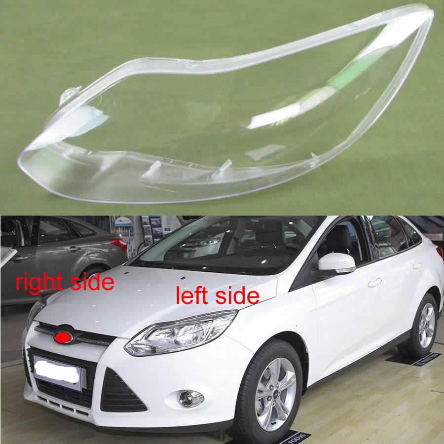 Front Headlamps Glass Cover Transparent Lampshades Lamp Shell Masks For Ford Focus 2012 2013 2014 2015