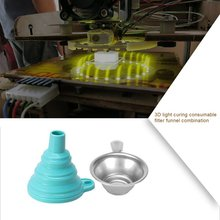 цена на 3D Light Curing Consumables Filter Funnel Combination 3D Printer Accessories Photosensitive Resin Recycling Good Helper