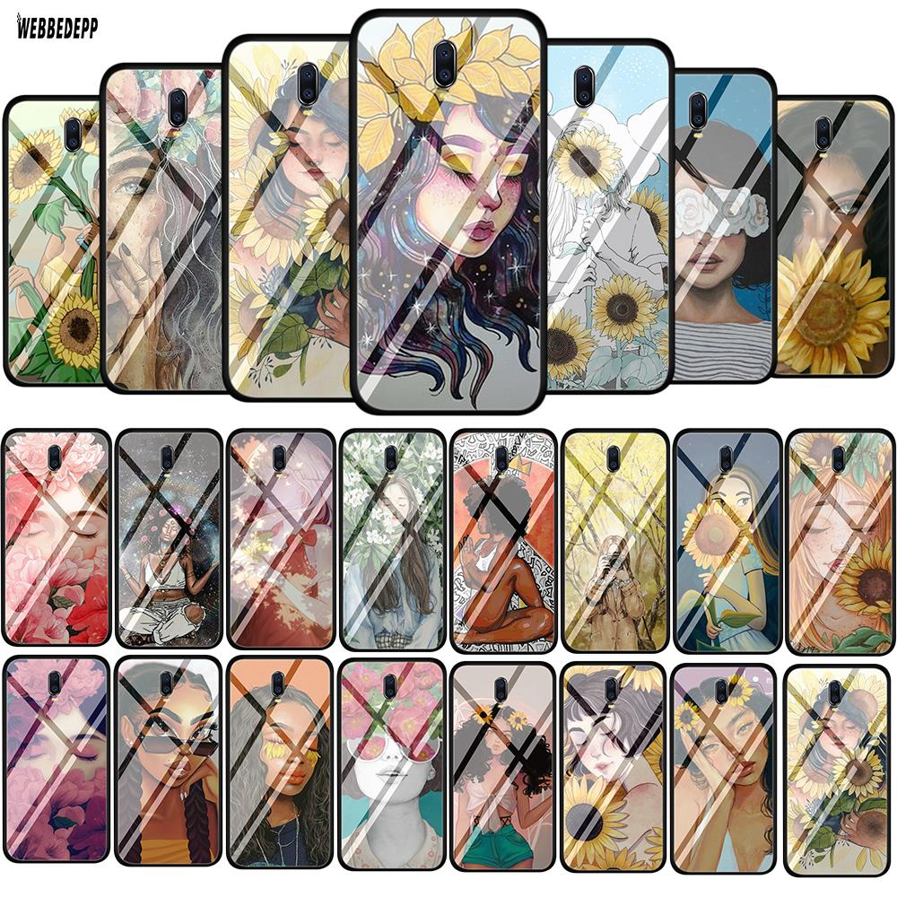 <font><b>Girl</b></font> in the flowers Tempered Glass Soft <font><b>Case</b></font> for <font><b>OPPO</b></font> A3s A5s A7 A37 A39 <font><b>A57</b></font> A73 A77 A7x F5 F7 F9 F11 Cover image