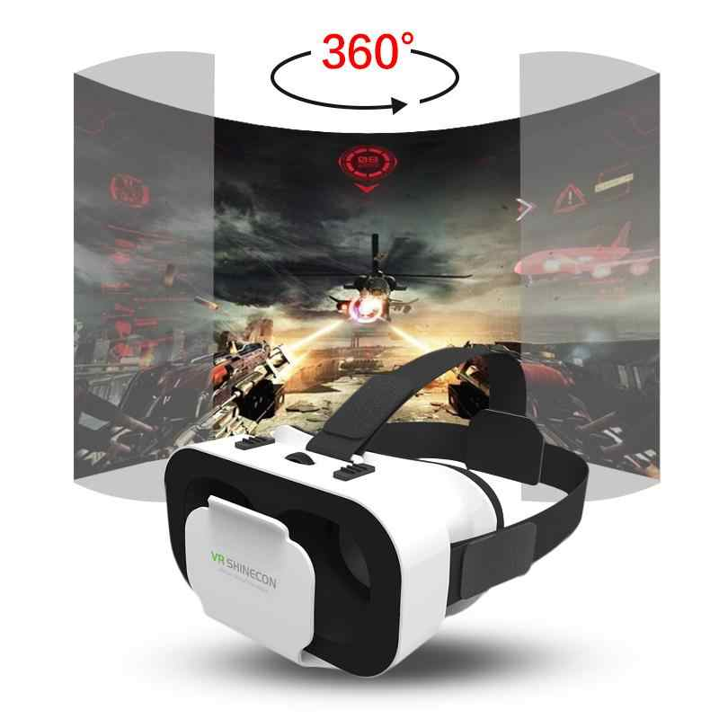 Dropshipping VR Shinecon G05A Helm 3D Kacamata untuk iPhone Android Smart Phone Kacamata Casque Len Game Lunette