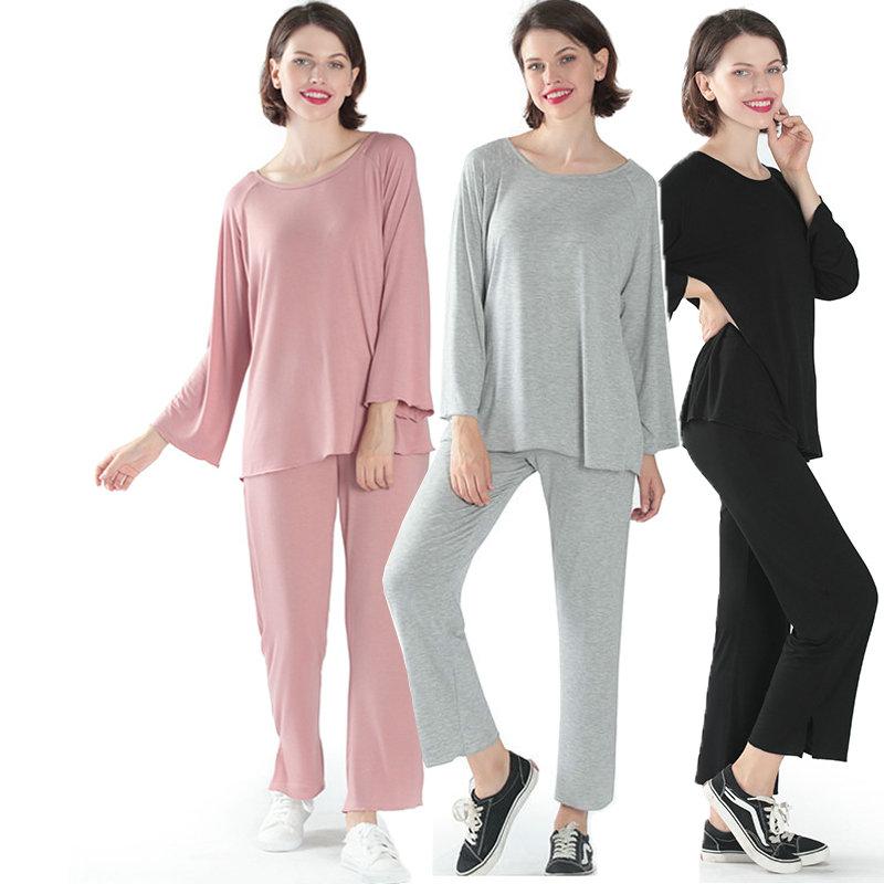 Casual Home Clothes Plus Size 6XL Loose Pajama Set 2PCS Nightwear Set Women High Elasticity Sleepwear Soft пижама New Arrival