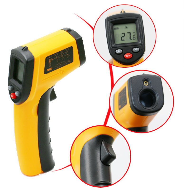Image 4 - Infrared Thermometer 380 Degree Celsius LCD Display Temperature 