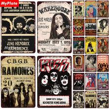 Homem de rock metal sinal do vintage placa estanho decoração da parede para bar pub fãs clube homem caverna música cartaz da equipe rock n rolo