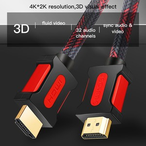 Image 2 - Shuliancable HDMI кабель 2,0 HDMI к HDMI 4K 1080P 3D 1 м 2 м 3 м 5 м 10 м 15 м 20 м для ноутбук с HDTV проектор xbox PS3/4 компьютерный кабель