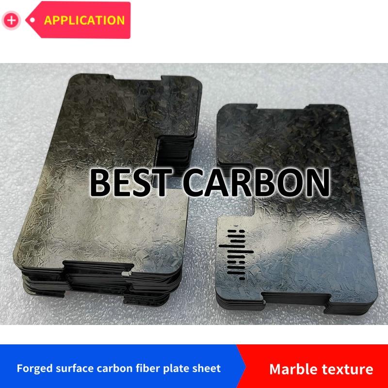 placa de fibra de carbono folha, brilhante