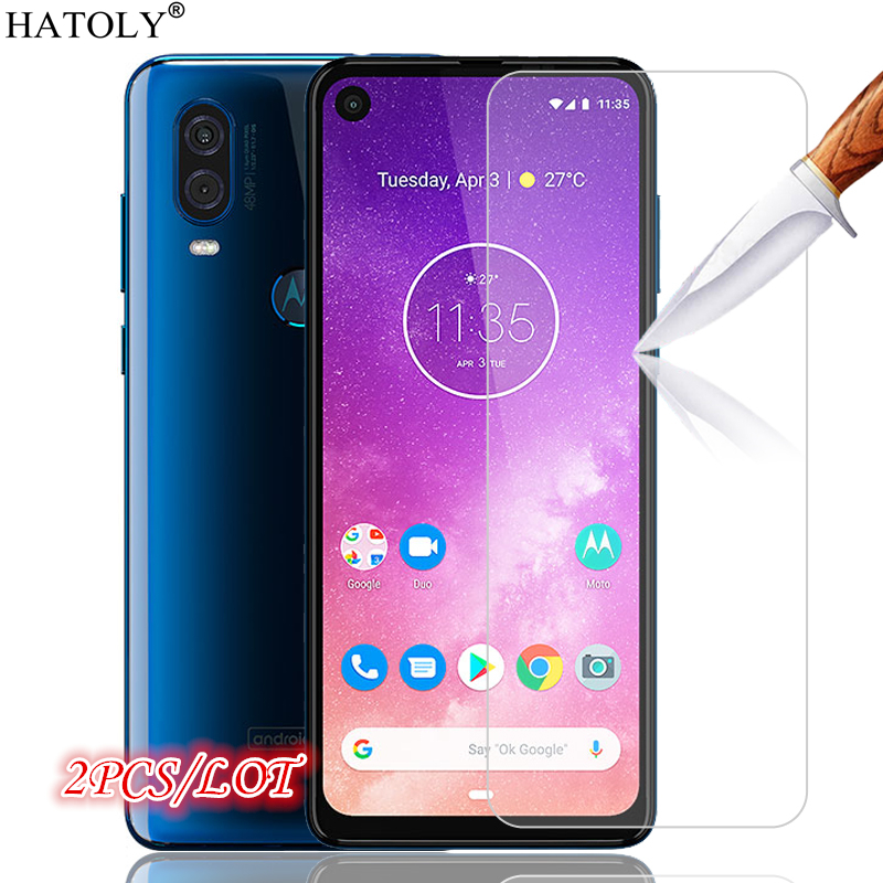 2Pcs Glass Moto One Vision Tempered Glass For Motorola One Vision Screen Protector Protective Glass Film For Motorola One Vision