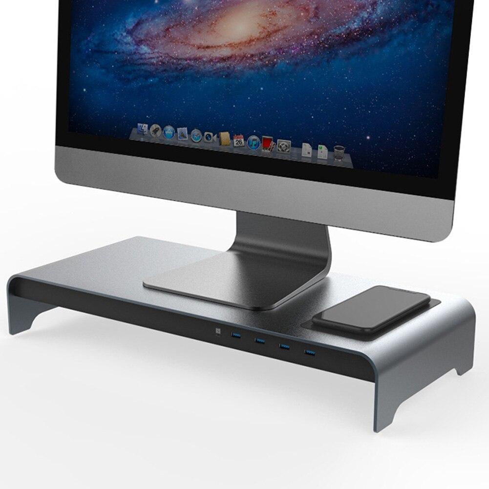 Socle d'ordinateur portable en alliage d'aluminium à Base intelligente avec 4 ports USB 3.0 tu shop - 2