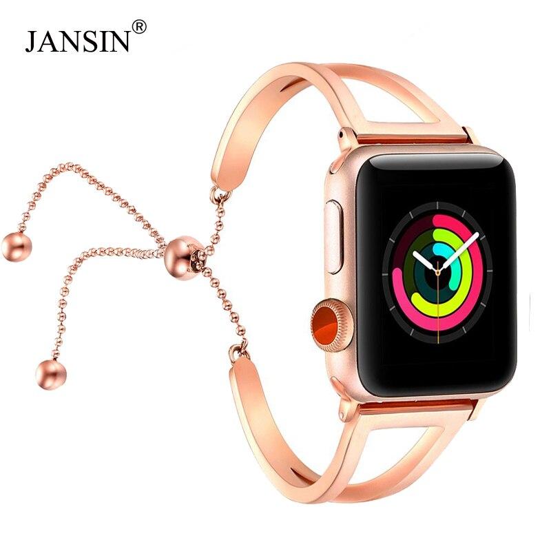 Women Strap For Apple Watch Band 38mm/42mm IWatch Band 40mm/44mm Stainless Steel Watchband Apple Watch Series 5 4 3 2 1 Bracelet