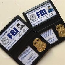 Anime Detective Conan Shuichi Akai Rye Cosplay Costumes Props Metal Badge FBI Documents Package Fancy Card Bag Support Custom