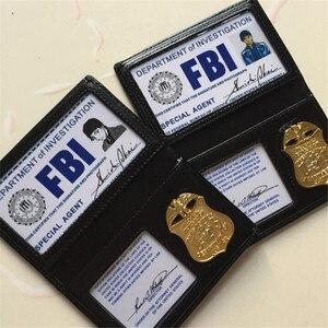 Image 1 - אנימה בלש קונאן Shuichi Akai שיפון קוספליי תחפושות אבזרי מתכת תג ה FBI מסמכים חבילה מפואר כרטיס תיק תמיכה מותאם אישית
