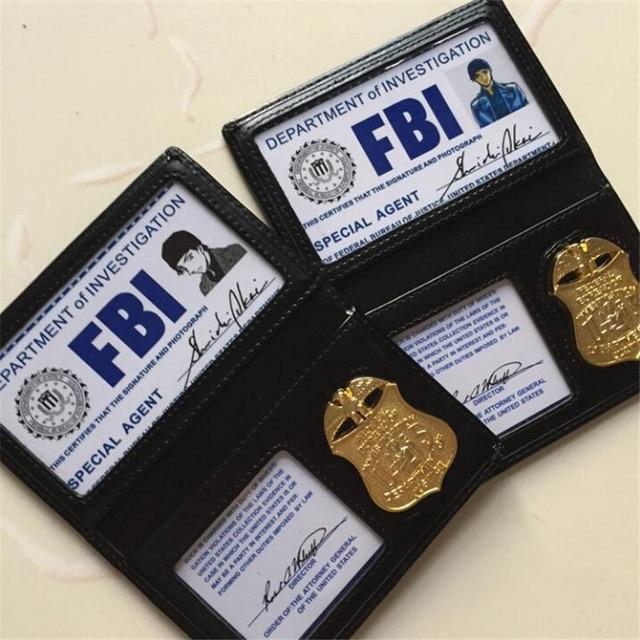 אנימה בלש קונאן Shuichi Akai שיפון קוספליי תחפושות אבזרי מתכת תג ה FBI מסמכים חבילה מפואר כרטיס תיק תמיכה מותאם אישית