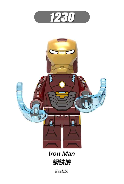 Único Homem De Ferro Marvel Super Heroes Blocos Mark9 Mark14Mark15 X0254 1Mark16Mark19Bricks Bonecas Brinquedos Para Crianças