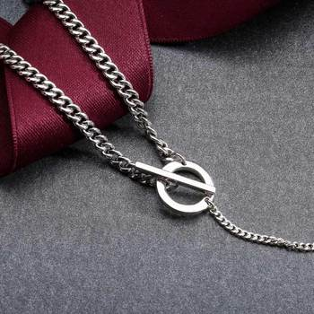 SA SILVERAGE 925 Sterling Silver  Necklaces Pendants for Women Fine Jewelry 925 Silver Pendant Long Necklace Locket Mouse 925 sa silverage silver set 925 black stone star necklace and earrings set for female women pure silver jewelry s925 birthday gift