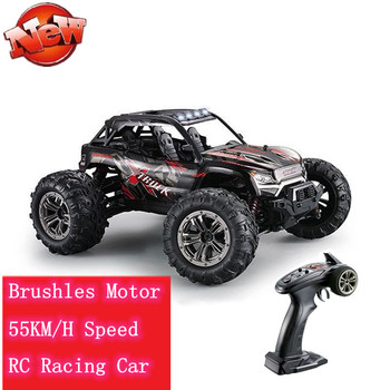2.4G 4WD 55km/h High Speed Brushless Motor RC Car Climbing Off-road Vehicle Remote Control Racing Car Model Kid best gift toys image