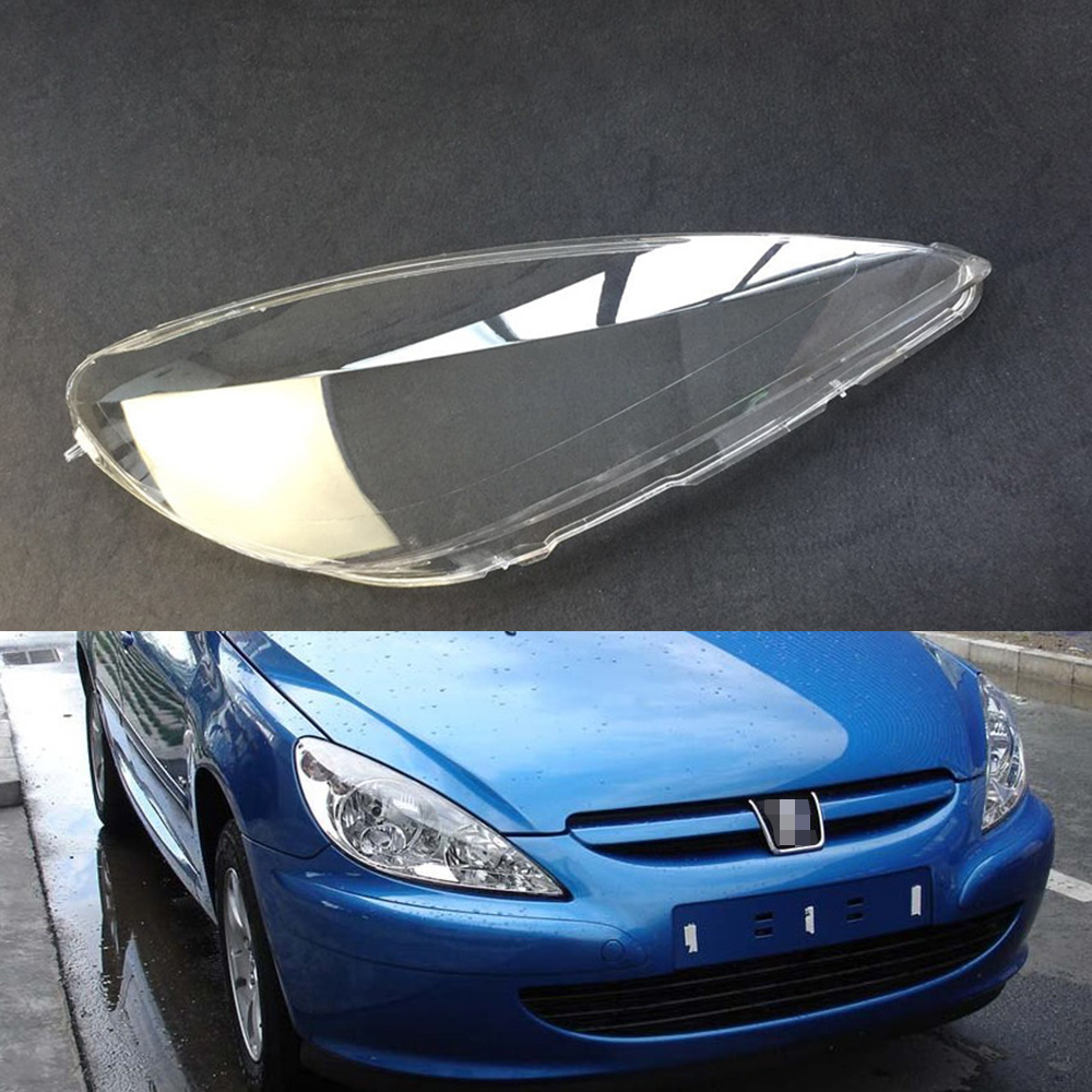 Car Headlamp Lens For Peugeot 307 2003 2004 2005 2006 2007 Car Headlight Headlamp  Lens Auto Shell Cover