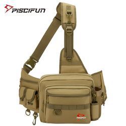 Piscifun Multifunctionele Sling Visgerei Tas Waterbestendig Outdoor Nylon Visgerei Opslag Cross Body Sling Bag