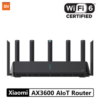 Xiaomi AX3600 AIoT Router Wifi 6 5G WPA3 Wifi6 600Mb Dual-Band 2976Mbs Gigabit Rate Qualcomm A53 External Signal Amplifier Accessories Electronics