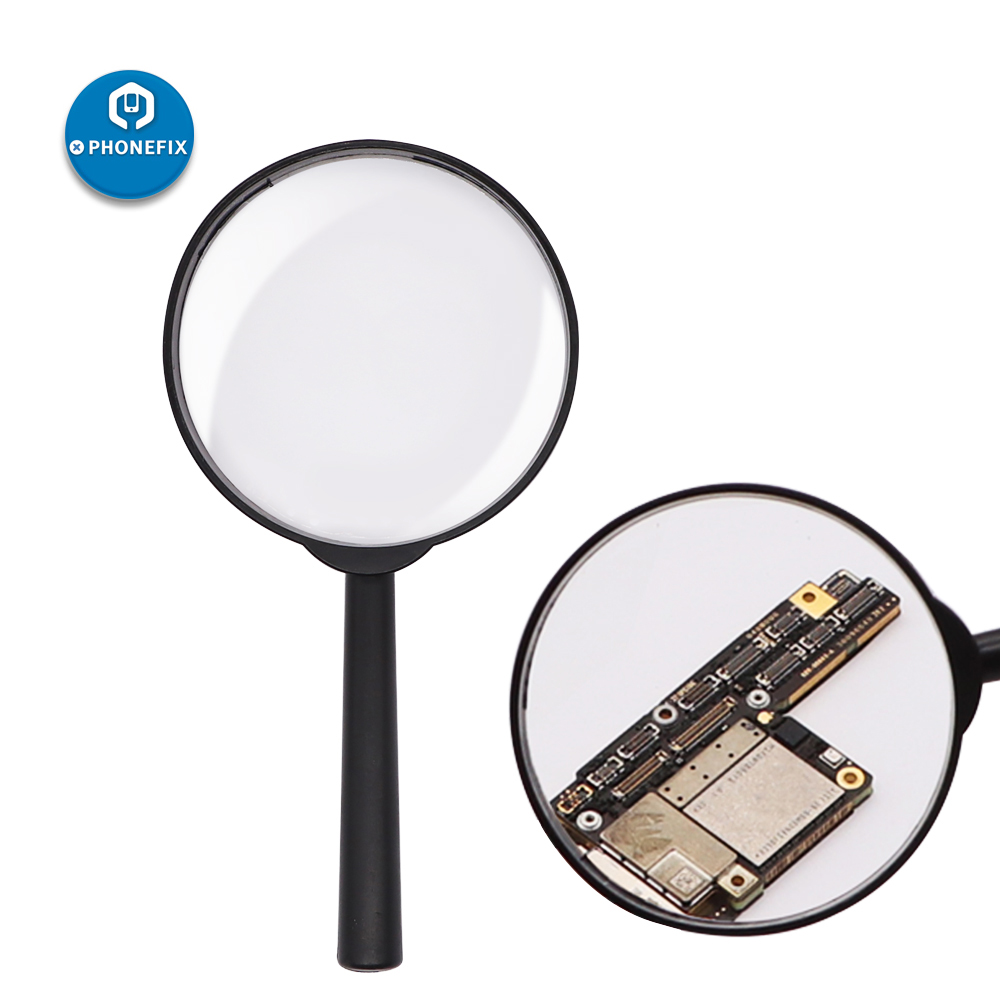 5 Times Handheld Magnifying Glass 5X Magnifying Glass For Reading High-definition For Glass Jewelry Newspaper Books Reading