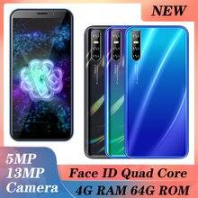 Smartphone a41 5mp + 13mp 4gb + 64gb, celular barato com identificação facial, quad core, desbloqueado, android celulares smartphones 3g wifi 6.0''