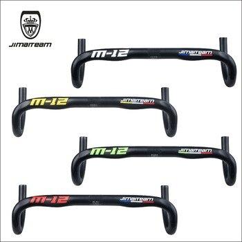 2020 JIMAITEAM Road bicycle handlebar eda 3K carbon fiber cycling bike parts handlebars bend bars 31.8mm