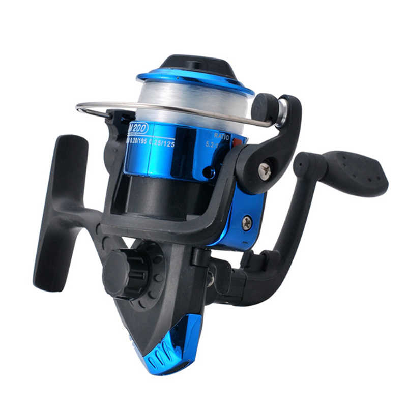 K8356 Spinning Reel Fishing Reels 5.2:1 High-strength Nylon Left/Right Interchange Fly Saltwater Spinner Fishing Reel Line Combo