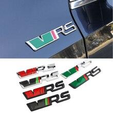 Liga etiqueta do carro tronco traseiro emblema para skoda vrs logotipo kodiaq karoq 2 a7 tour rs superb octavia yeti fabia 1 rápida acessórios