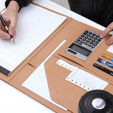 А4 Папка для бумаг портфель многофункциональный кожаный Органайзер крепкий офисный менеджер клип письмо