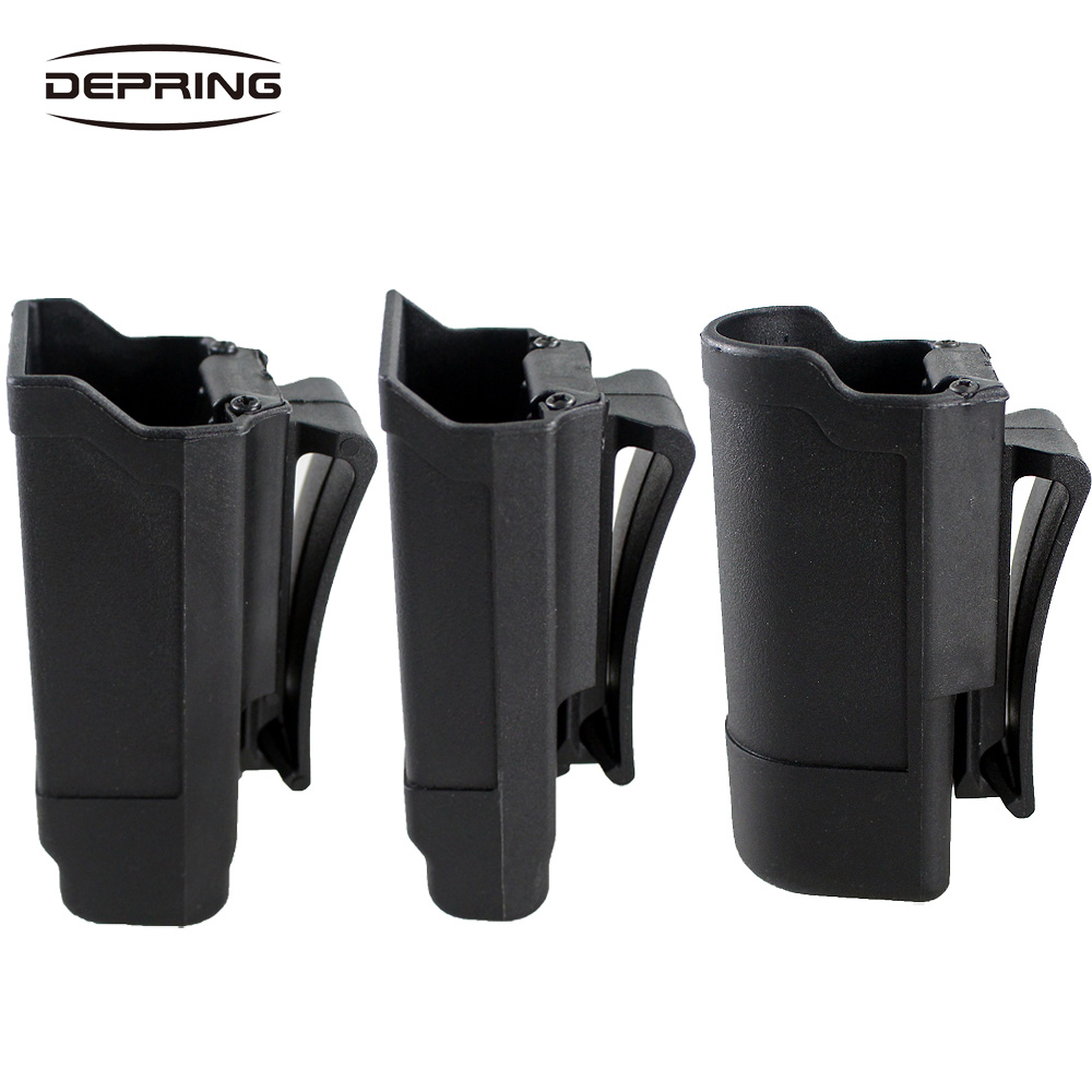 CQC Magazine Pouch Tactical Gun Mag Holder Quick Draw Double Stack Magazine Holster Holder For Glock 1911 Flashlight For Hunting