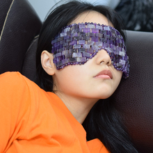 Rose Quartz Eye Mask Real Natural Amethyst Blindfold Therapy Jade Stone Germanium Sleep Shade Cool R