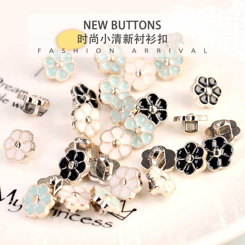 11mm kobiety bluzka guziki na odzież plastikowy kwiat styl uchwyt szycie ubrań koszula z guzikami akcesoria odzież 10 sztuk