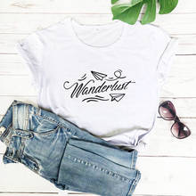 Wanderlust koszula 2020 New Arrival lato 100% bawełna śmieszne koszulka wakacje koszula lato podróży koszula Vavay tryb koszule