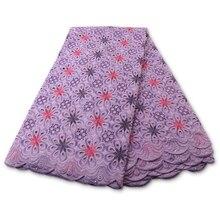Lace-Fabric Switzerland Swiss Voile Nigerian Cotton High-Quality African PGC Latest YA3884B-4