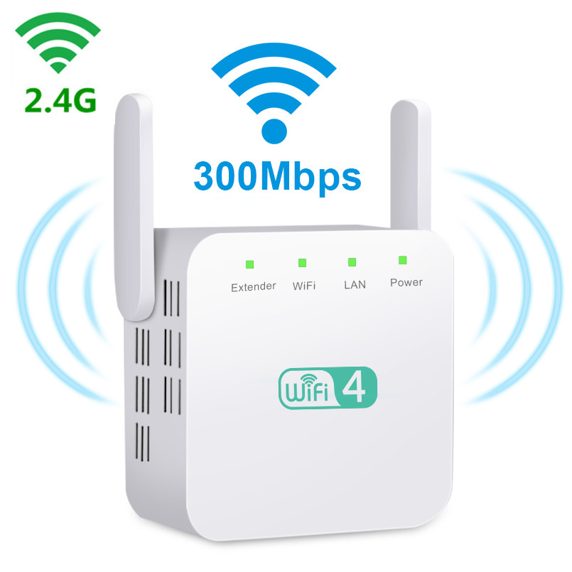 Super Boost Wifi Repeater 2.4G Wifi Extender Signal Amplifier Wi fi Repeater Wifi Booster Dual Antennas Wi fi Amplifier Hotspot image
