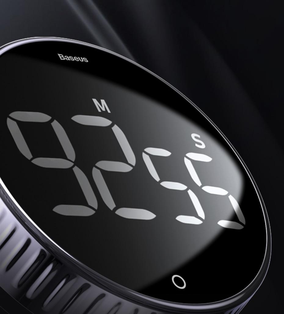 Baseus Magnetic Digital Manual Countdown Kitchen Mechanical Cooking Timer