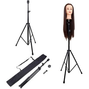 Image 2 - Adjustable Tripod Stand Holder Mannequin Head Tripod Hairdressing Training Head Holder Hair Wig Stand Tool