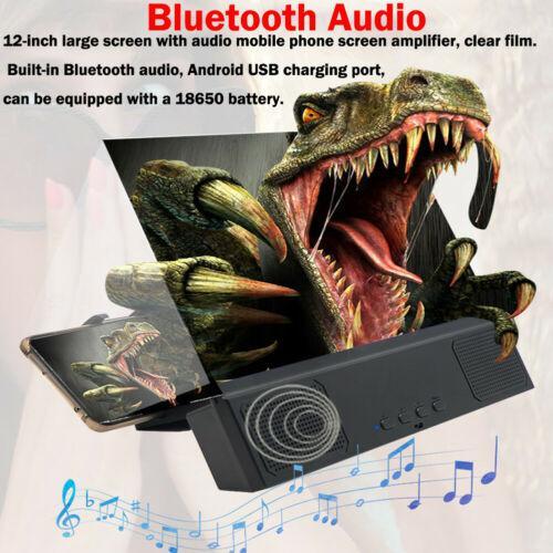 Phone Screen Magnifier HD Video Amplifier Folding Enlarged Expander Desktop Bracket socket Phone Holder Mount With Speaker