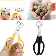 Codorniz ovo scissor cortador abridor ferramenta de cozinha clipper venda conchas tesoura biscoito charuto lâmina aço inoxidável #50g