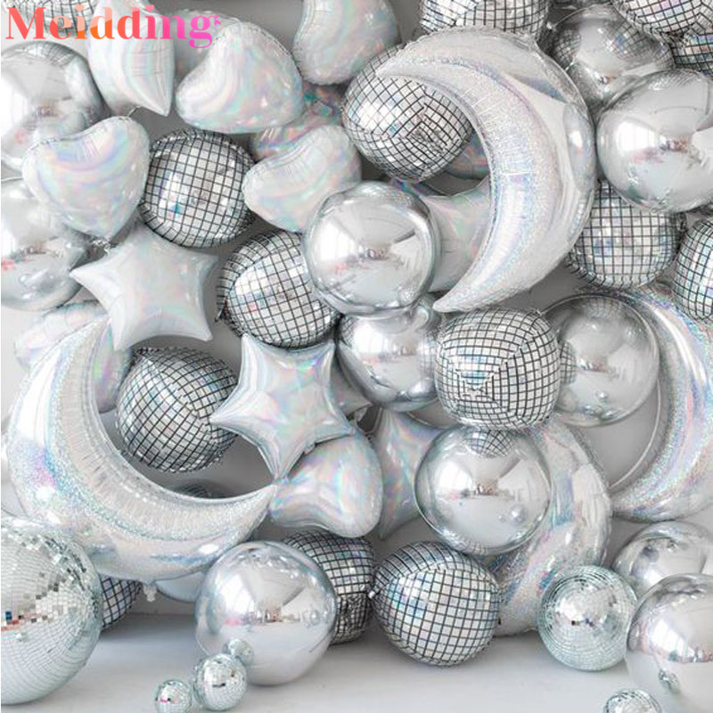 Шар для дискотеки, Гелиевый шар для танцевальной вечеринки, декоративные металлические шары, популярный праздничный шар для взрослых, украшение для вечеринки на день рождения, свадьбу Воздушные шары и аксессуары      АлиЭкспресс