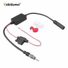 Kebidumei rádio fm universal 12v, amplificador de sinal de antena fm para carro, 12v para veículo marinho 108mhz