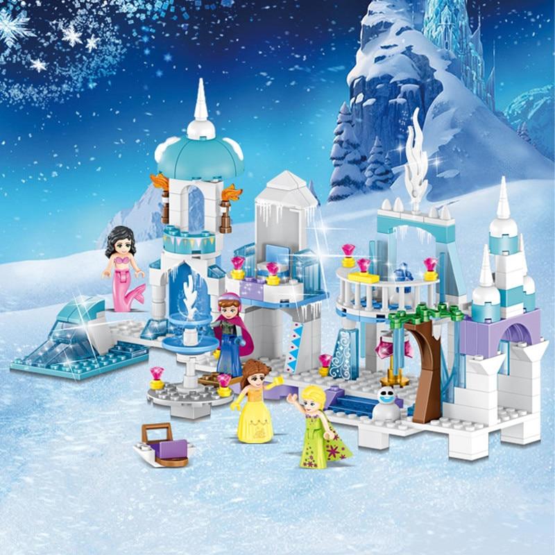 4 en 1 princesa sirena Elsa Anna Castillo de hielo modelo bloques de construcción Kit de juguetes compatibles con Legoinglys amigos chica niños regalos Modelo de coche de aleación fundido a presión 1:24 DMC-12 delorean volver al futuro tiempo máquina de Metal coche de juguete para la colección de regalos de juguete para chico