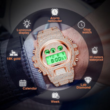MISSFOX Digital Seiko Movement Icd Men's Watches Luxury Rose Gold Stop Watch Men Alarm AAA Male Wrist Watches Relogio Masculino(China)