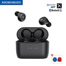 Беспроводные наушники Anomoibuds с зарядкой Qi, Aptx, Bluetooth наушники CVC 8,0, ANC, сенсорная клавиша, два микрофона, бесплатная доставка в Бразилию
