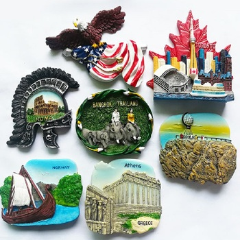 3d Resin Refrigerator Magnet USA Greece Canada Toronto Norway Rome Thailand Tourist Souvenir Fridge Magnets Home Decor Gift Idea 1