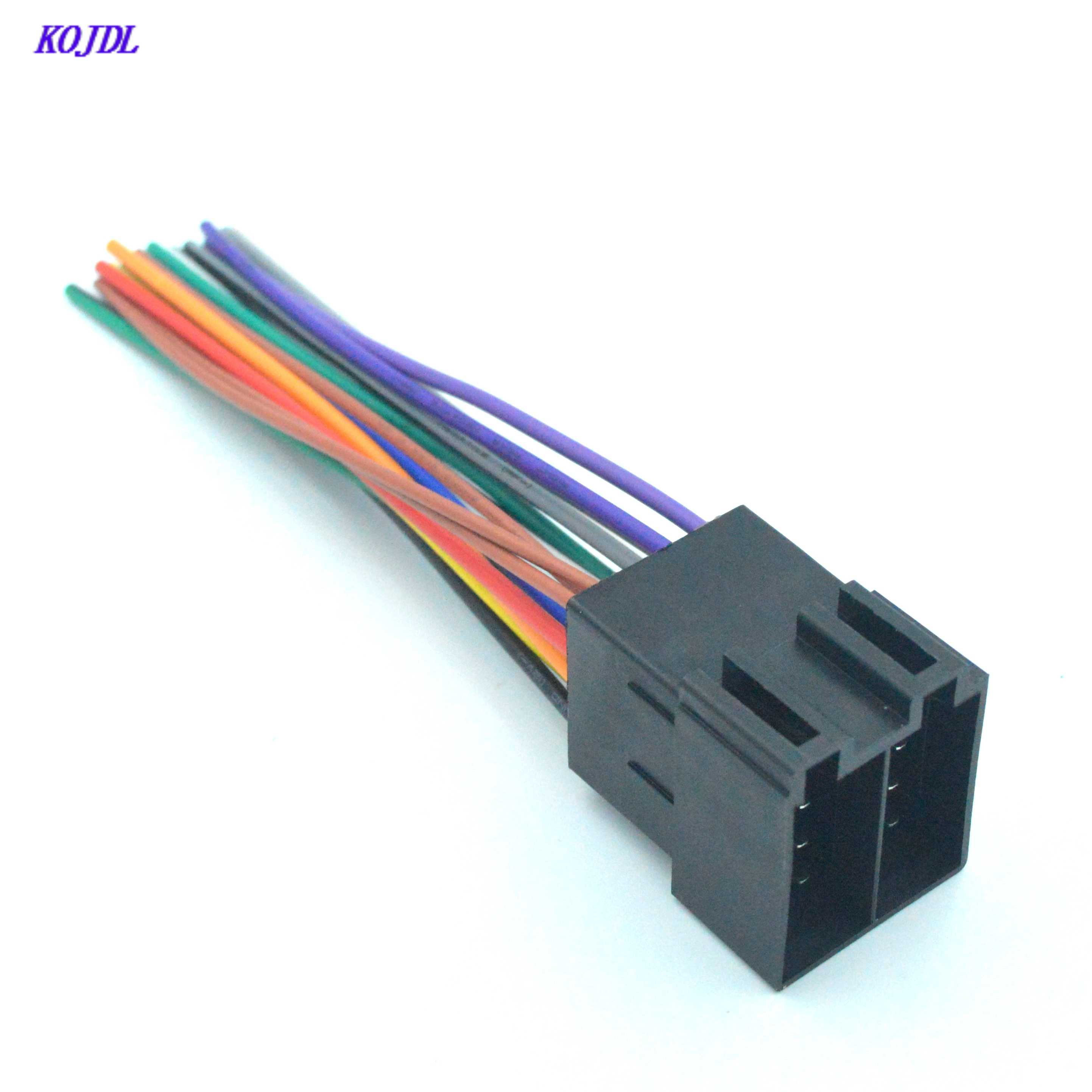 Universal Car ISO Radio Wiring Harness Cabe Adapter Connector audio Plug for Volkswagen Ford Focus Citroen Audi Mercedes KOJDL